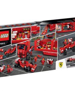 LEGO F14 T & Scuderia Ferrari Truck 75913 box back